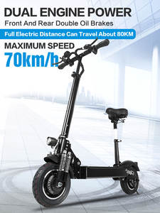 Janobike Electric-Scooter Motorcycle-Pedal Seat-10inch Folding Adult 2000W Road-Tire