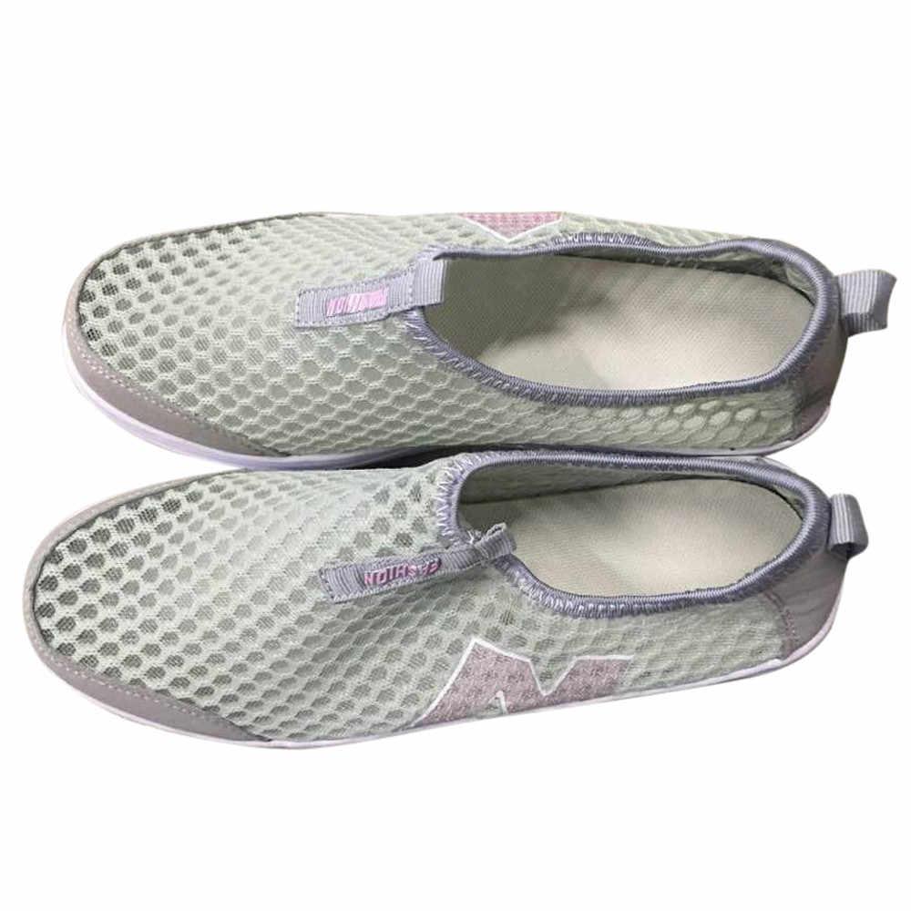 Schoenen Vrouwen Mesh Platte Schoenen Sneakers Platform Schoenen Vrouwen Loafers Ademend Air Mesh Swing Wiggen Schoen Ademend Flats # PY25