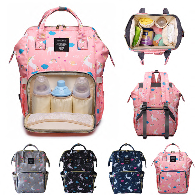 Diaper Bag Mummy Maternity Bag Fashion Large Capacity Unicorn Baby Stroller Bag Nappy Changing Baby Bag Backpack For Mom