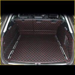 Lsrtw2017 Bagagliaio di Un'auto In Pelle Zerbino Cargo Liner per Audi A6 2011 2012 2013 2014 2015 2016 2017 Allroad Avant A6 c7 Tappetini Tappeto