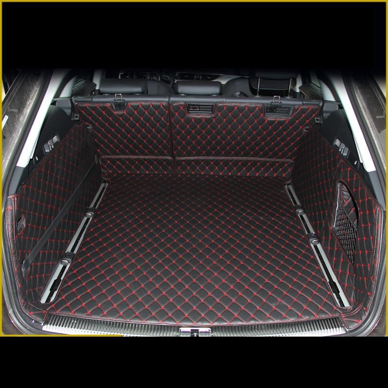 Lsrtw2017 Leather Car Trunk Mat Cargo Liner For Audi A6 2011 2012 2013 2014 2015 2016 2017 Allroad Avant A6 C7 Rug Carpet