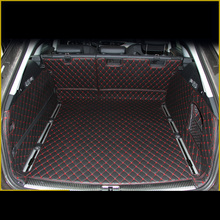 Lsrtw2017 Leather Car Trunk Mat Cargo Liner for Audi A6 2011 2012 2013 2014 2015 2016 2017 Allroad Avant A6 C7 Rug Carpet kross level a6 2013