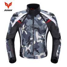 DUHAN Camouflage Mens Motorcycle Jacket Oxford  Motocross Off Road Racing Jacket With 5 Protectors Moto Guards  Moto Jacket