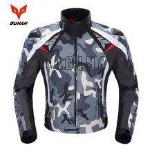 DUHAN del Camuffamento degli uomini di Moto Giacca In Tessuto Oxford Motocross Off Road Racing Jacket Con 5 Protezioni Moto Guardie Moto Giacca