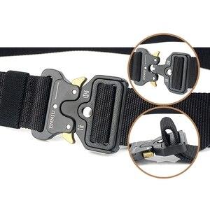 Image 3 - Nylonowy pas taktyczny pas wojskowy mężczyźni trening na świeżym powietrzu paski czarny wysokiej jakości łatwy odblokuj metalowy wojskowy pasek na klamrę