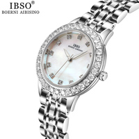 IBSO Brand Women's Quartz Watches Fashion Luxury Round Dial Rose Gold Watch for Ladies Stainless Steel Clock Montre Femme