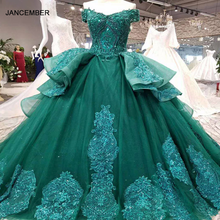 LSX006 vestidos דה festa לונגו ברקת שמלת ערב ארוך תחרה פרח תחרה עד בחזרה מתוקה כדור שמלת פורמליות שמלת תמונה אמיתית
