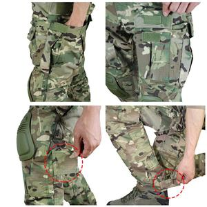 Image 5 - zuoxiangru Mens Multicam Tactical Pants Multi Pockets Military Camo Outdoor Airsoft Combat Hunting Pants with Knee Pads