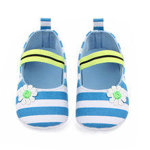 2019 Unisex Newborn Baby Shoes Girls Stripe Flower Anti-slip First Walkers Soft Soled Toddler infant Kids Girl booties sneakers(China)