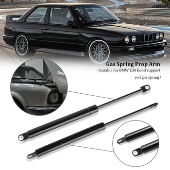 2Pcs Car Hood Gas Spring Shock Strut Damper Lift Support For BMW E30 Stainless Steel Hydraulic Rod Car Accessories image