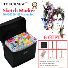 TOUCHNEW Art Markers Dual Head Art Marker Pen Set Sketch Markers Skin Tone Cool Grey for Drawing Manga Art Supplies for Artist 32pcs professional drawing artist kit pencils sketch charcoal art craft with carrying bag tools