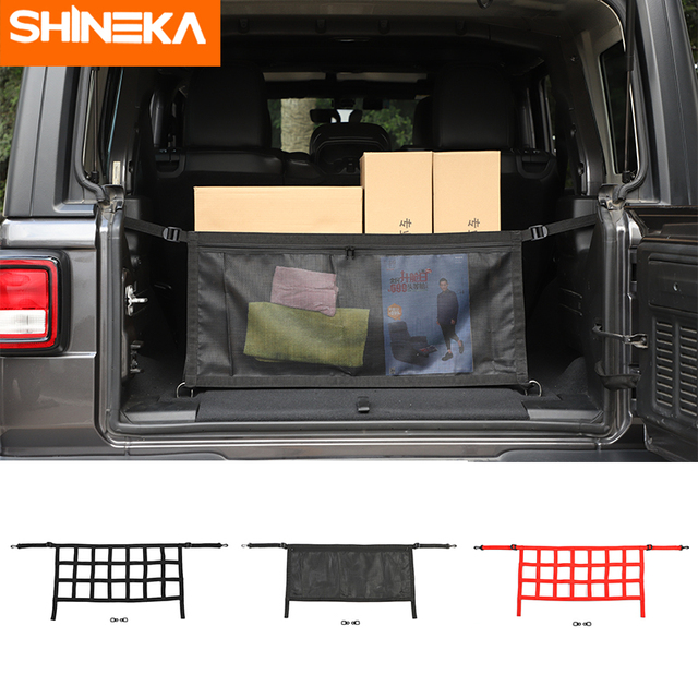 Car Covers For Jeep Wrangler JL 2019 2020 Car Multifunction Trunk Cargo Storage Net Cover Accessories For Jeep Wrangler JL 2018+