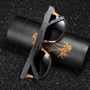 Image 2 - GM 탑 블랙 나무 선글라스 수제 자연 스케이트 보드 나무 선글라스 남자 여자 목조 편광 선글라스 S5832