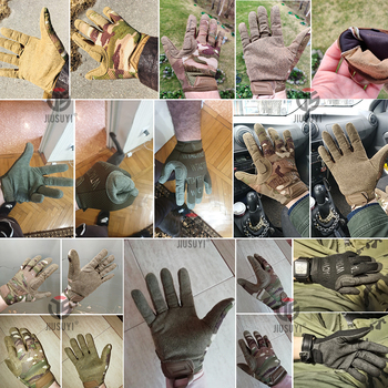 Tactical Army Long Gloves Breathable Military Paintball Airsoft shooting Combat Full Finger Glove Men Women Lightweight Black 2