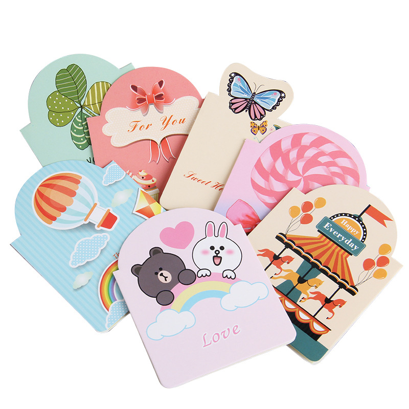 Creative Kawaii Invitation Card Birthday Party Greeting Card Bouquet Card Delicate Message Card Valentine's Day Card
