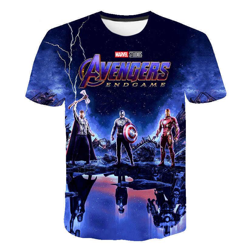 Delle Ragazze dei ragazzi Marvel Avengers Iron Man/Captain America/Spiderman/Hulk T-Shirt Divertente Del Fumetto Dei Capretti Magliette E Camicette Dei Bambini della Maglietta vestiti del bambino