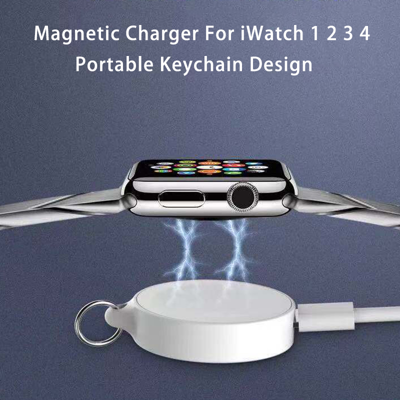 Portable Magnetic Wireless Charger For Apple Watch 1 2 3 4 Series Usb Power Charging For IWatch 4 3 2 1 With Keychain Charging