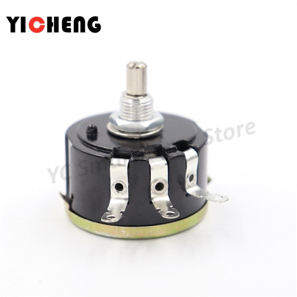 2 pces wx112 wx050 5w single-turn wirewound potenciômetro deslizante rheostat resistência ajustável, girar, se sentir bem, interruptor de botão