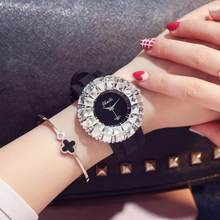 Charming white Women Watches Minimalism Casual Diamond Lady Wristwatch Fashion Luxury Brand Female Watch Gift(China)