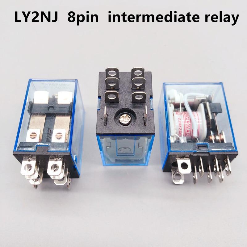 1 шт. реле LY2NJ Катушка 12 В/24 В переменного тока 220 В/220 В HH62P JQX-13F10A в миниатюрная катушка Генеральный электромагнитный промежуточный релейный п...