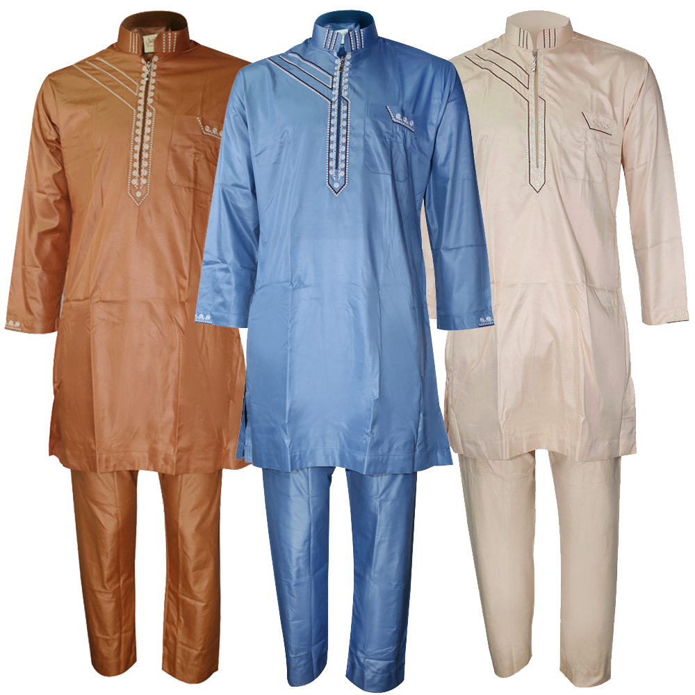 Bangladesh Arabic Thobe 2 Pieces Set Muslim Men Pakistan Islamic Clothing Man Arabic Qamis Kaftan Hombre Djellaba Homme Kurta