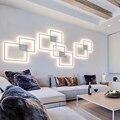 Простая атмосферная светодиодная настенная лампа с геометрическим соединением может diy лампы для украшения дома освещение ультра тонкая н...