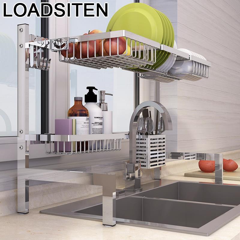 De Sink Accessories Cosina Almacenamiento Dish Drainer Stainless Steel Cocina Mutfak Rack Cozinha Cuisine Kitchen Organizer
