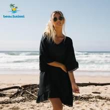 Beachsissi de ganchillo, cubierta de borlas, Sexy de cuello en V tie-lado 2021 mujeres de verano, Vestido de playa, traje de baño de playa