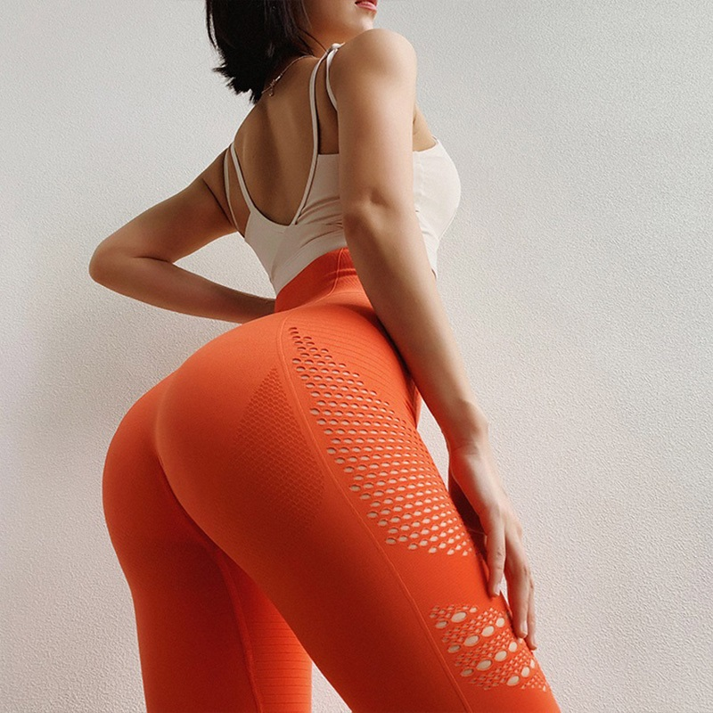 Solid Sports Leggings  High Waist Fitness Yoga Pants Women Seamless Long Tights Gym Tummy Control For Running Workout Sexy Butt