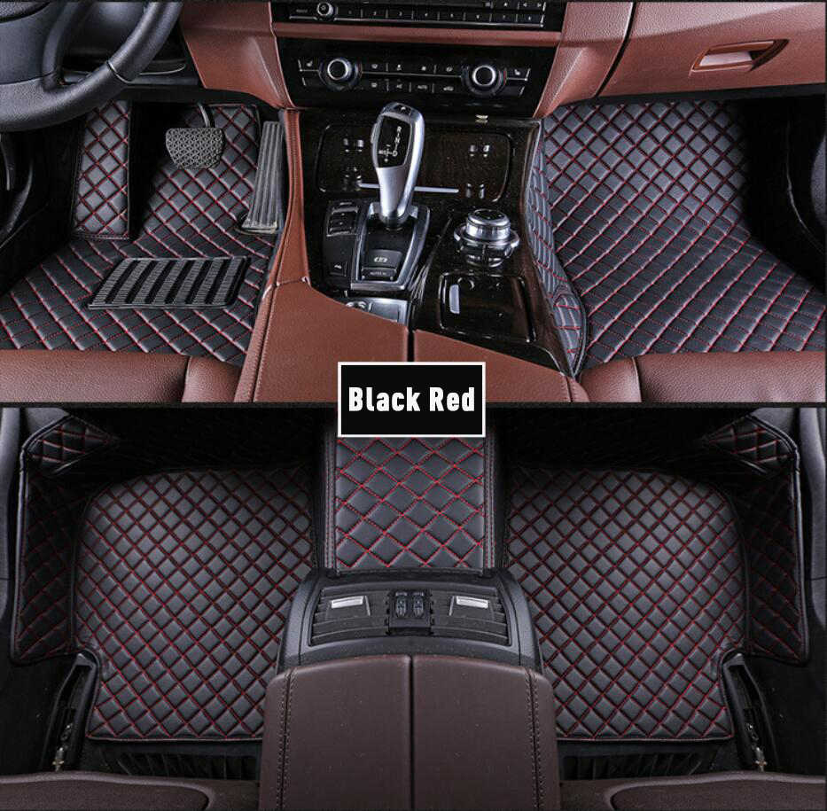 Custom Car Floor Mats for Hyundai Tucson 2019 Full Surrounded Protection Luxury Leather Material Wear Resistant Car mat Carpet Liners Black