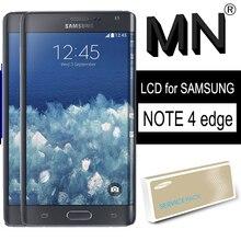LCDต้นฉบับสำหรับSAMSUNG Galaxy Note 4 Edge N915 N9150 N915FจอแสดงผลSuper AMOLEDกรอบTouch Digitizer Repairอะไหล่