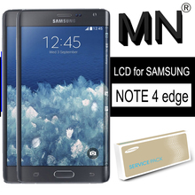 Orijinal LCD SAMSUNG Galaxy not 4 kenar N915 N9150 N915F süper AMOLED ekran çerçeve ile dokunmatik ekran Digitizer onarım parçaları