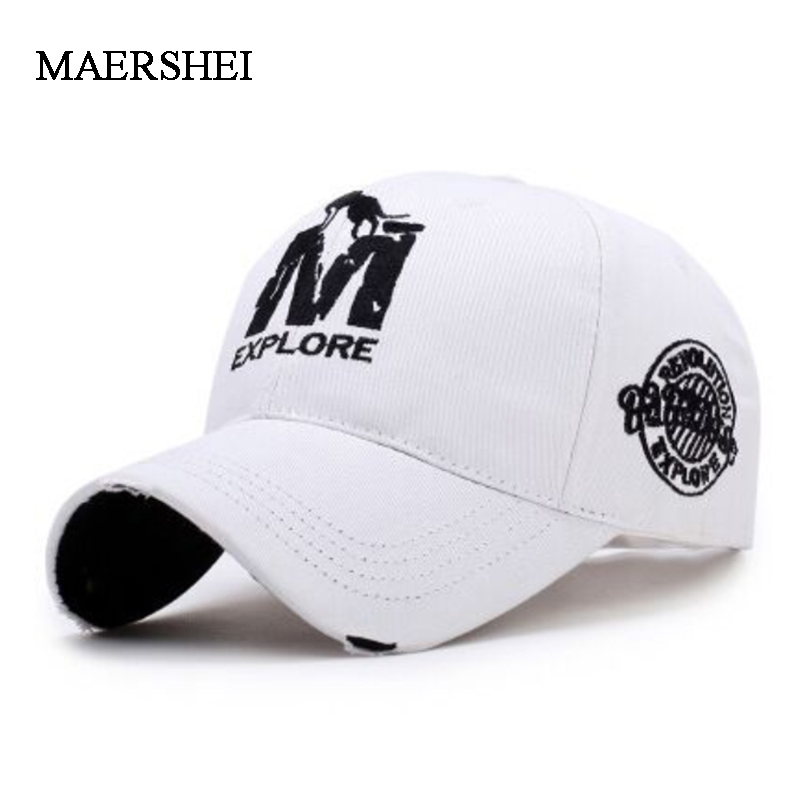 MAERSHEI Fashion Couple Embroidered Baseball Cap Men's Outdoor Sports Hat Ladies Sunscreen Visor Cap