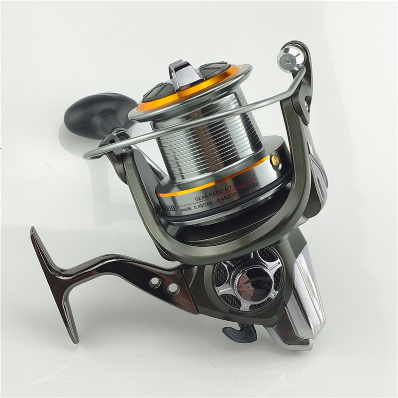 Hot Wheels Fish Spinning Reel Big Full Metal Body Size 8000 10000 12000 Classic Style Carretilhas De Pescaria Fishing Reel