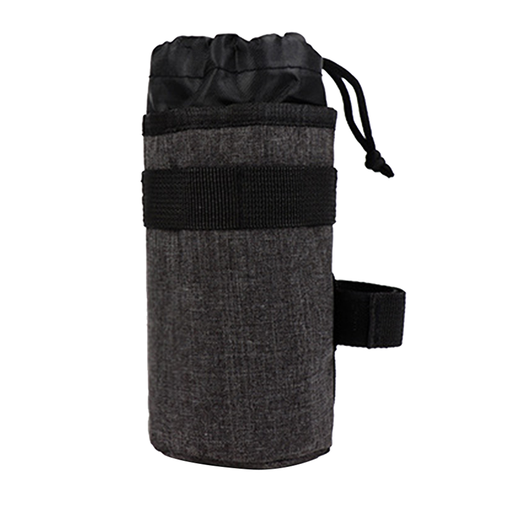 Bike Cup Holder Water Bottle Insulated Pouch Bag & Adjustable Drawstring Closure - Easy to Install - Select Colors