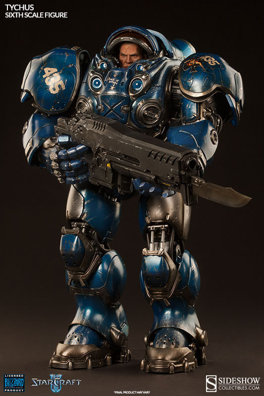 Blizzard StarCraft Star Tychus Findlay Terran Marine Figure Statue Model 23cm