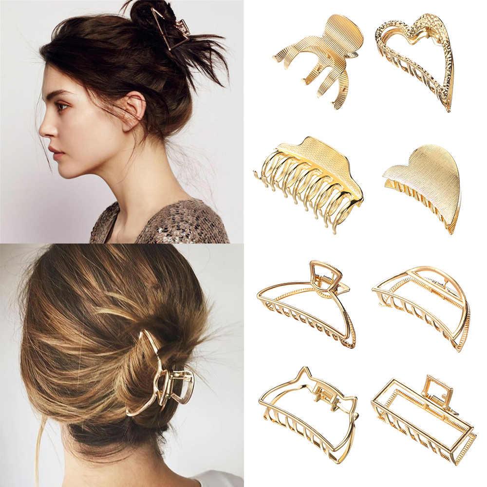 Vintage Women Geometric Hair Clip Large Hair Crabs Hair Claws Barrette Hairpin #