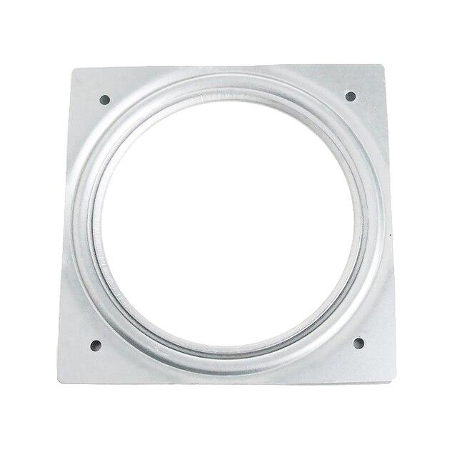 Roulement à billes avec rouleaux | Charnière de platine, outil carré plaque pivotante rotation de 360 degrés quincaillerie de meubles galvanisée Base de bureau
