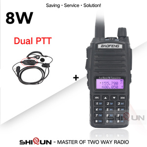 Image 2 - BaoFeng Walkie Talkie UV 82 Upgrade 8W Baofeng UV 82 Dual PTT Headset Mic Walkie Talkie 10 KM Baofeng 8W Radios baofeng uv 9r 5R