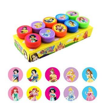 10pcs/Set of Disney Princess Seals Childrens Set Stamp Cute Cartoon Gift Toys Reward Birthday To Children