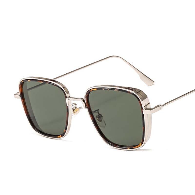 Luxury Kabir Singh India Movie Sunglasses Men Women Square Gold Frame Cool Shades Brand Design Red Sun Glasses For Male Female