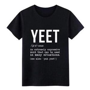 Yeet definition dank, забавный подарок meme, Интернет-кляп, Мужская футболка на заказ, футболка с круглым вырезом, одежда, подарок, летняя стильная рубаш...