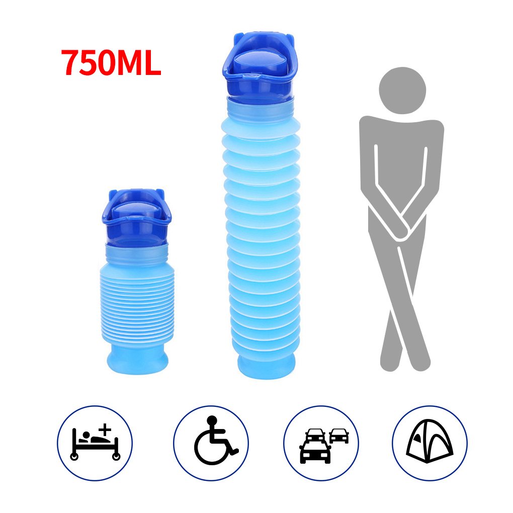 750ml Portable Adult Urinal Outdoor Camping High Quality Travel Urine Car Urination Pee Soft Toilet Urine Help Men Toilet