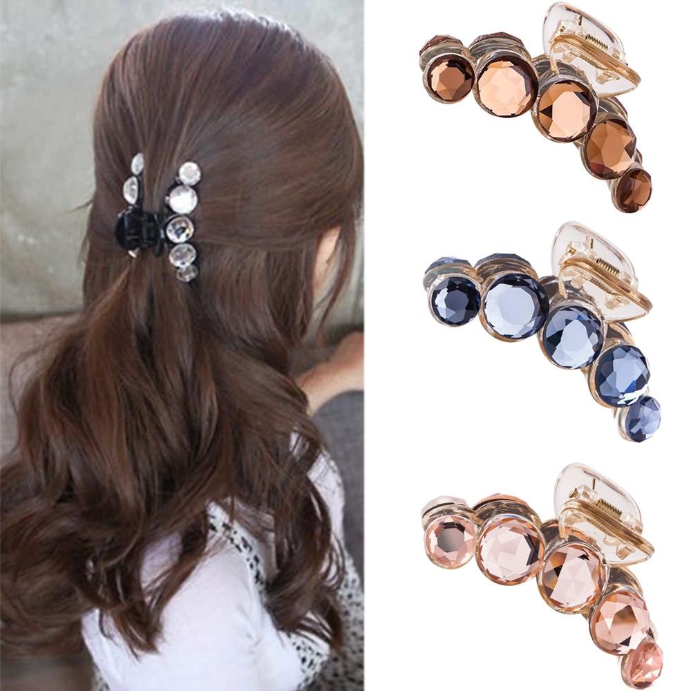 Shiny Rhinestone Hair Claw Jaw Clamp Clip Grip Accessories