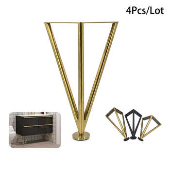 4Pcs/Set Stainless Steel Furniture Table Legs 15/20/25/30CM Tapered Feet For Sofa Cupboard Cabinet TV Furniture Leg Feet - Category 🛒 All Category