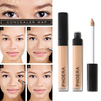 PHOERA Liquid Concealer Foundation Cream Smooth Makeup Face Eyes Moisturizing Cosmetic Long Lasting Scars Acne Cover TSLM1 1