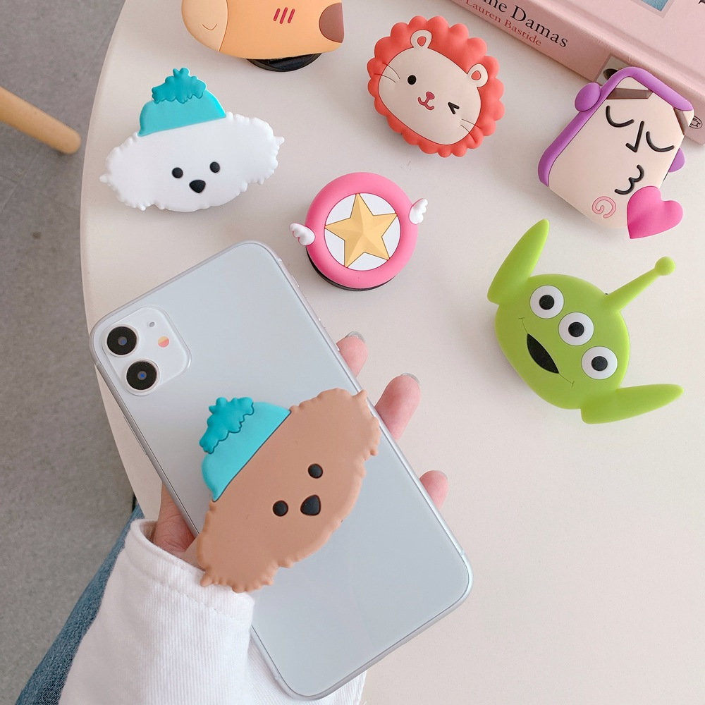Universal Phone Bracket Cartoon Toy Story Phone Fold Expanding Stand Finger Holder Phone Holder Stand For IPhone Huawei Xiaomi
