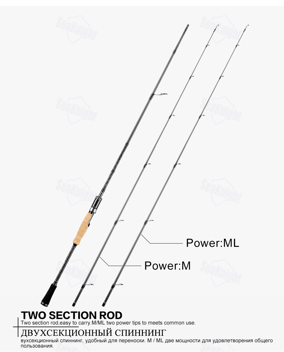 Seaknight Falcon Fishing Rod 2 Tips M Ml M Mh Power 2 Sections Carbon Spinning Casting Fishing Tackle Rod 1 98m 2 1m 2 4m Fishing Rods Aliexpress