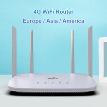 LC116 LTE CPE 4G wifi router SIM card Hotspot CAT4 32 users RJ45 WAN LAN wireless modem