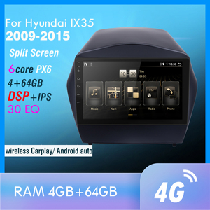 4G+64GB PX6 Car DVD Multimedia Player For 2009 2010 2011 2012-2015 IX35 2din Android 10.0 Radio Auto Navigation GPS 4G